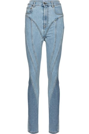 MUGLER High-rise slim jeans