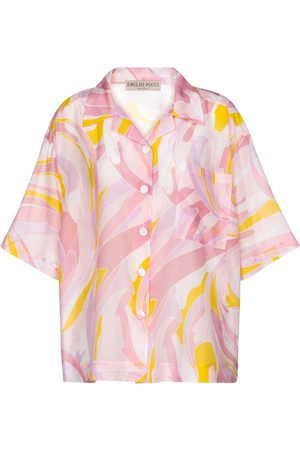 Emilio Pucci Printed cotton and silk shirt