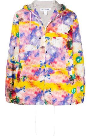Comme des Garçons Tie-dye drawstring hoodie
