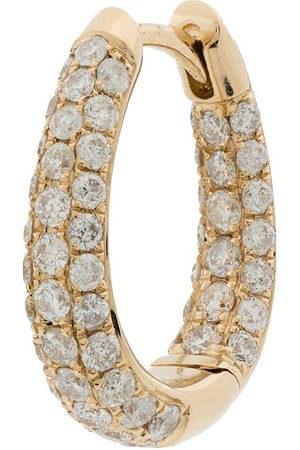 JACQUIE AICHE Women Hoop - 14kt yellow Inside Out diamond hoop earring