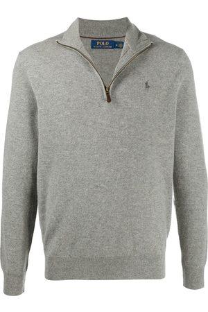 Polo Ralph Lauren Men Turtlenecks - High-neck logo jumper - Grey