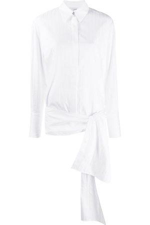 Victoria Victoria Beckham Side-tie long-sleeve shirt