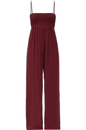 Three Graces London Tallie Smocked Crepe Jumpsuit - Womens - Dark