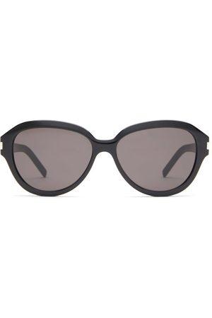 Saint Laurent Round Acetate Sunglasses - Womens