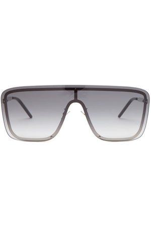Saint Laurent Shield Metal Sunglasses - Womens