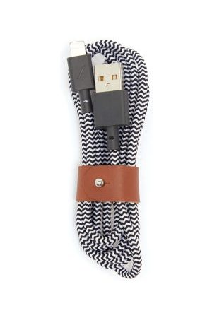 Native Union Belt Leather-trimmed 4ft Usb Charging Cable - Mens - And