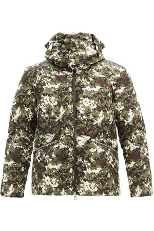 Moncler Men Coats - Blanc Camouflage-print Quilted Down Coat - Mens - Multi