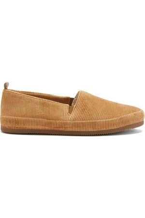 Mulo Shearling-lined Cotton-corduroy Slippers - Mens
