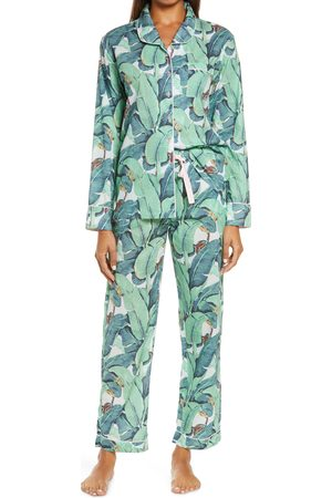 Sant And Abel Women's Martinique Banana Leaf Print Pajamas