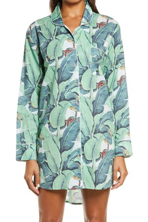 Sant And Abel Women's Martinique Banana Leaf Print Nightshirt