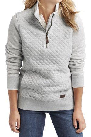 L.L.BEAN Women Hoodies - Women's Quilted Quarter Zip Pullover