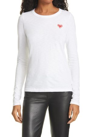 RAG&BONE Women's The Embroidered Heart Long Sleeve Tee