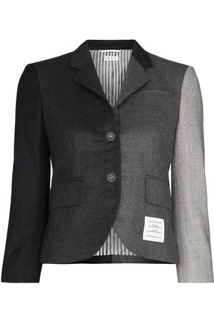 Thom Browne Classic s/c in super 120's wool flannel blazer - Grey