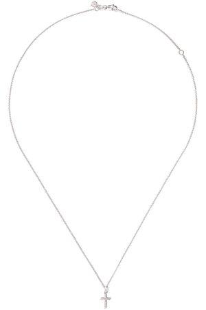Sydney Evan Women Necklaces - 14kt white small cross diamond pendant necklace