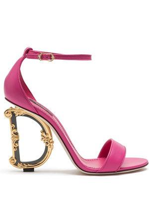 Dolce & Gabbana 105 mm Keira baroque logo sandals