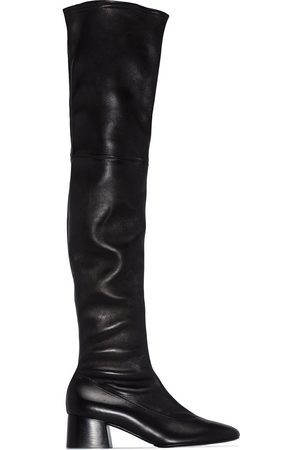 Khaite Women Thigh High Boots - Sedona over-the-knee leather boots