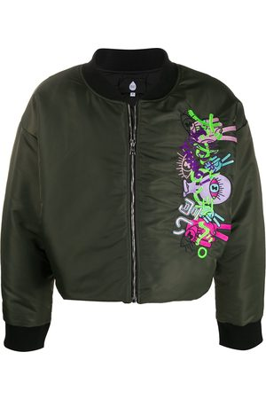 DUOltd Embroidered zip-up bomber jacket