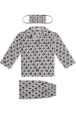 Dolce & Gabbana DG-print pajama set with matching face mask