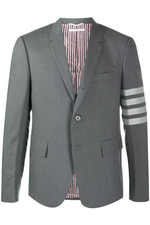 Thom Browne Four-Bar fitted blazer - 035 MED GREY