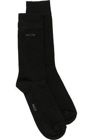 Bally Logo intarsia cotton socks