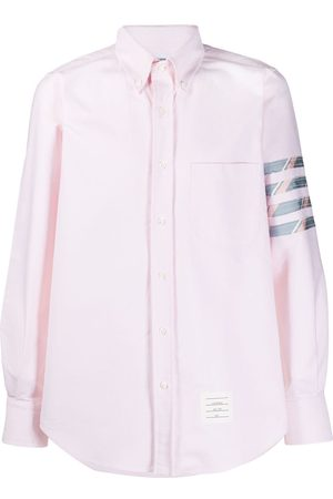 Thom Browne OXFORD STRAIGHT FIT LONG SLEEVE TOP APPLIED 4-BAR SHIRT
