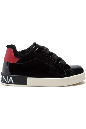 Dolce & Gabbana Portofino patent leather sneakers