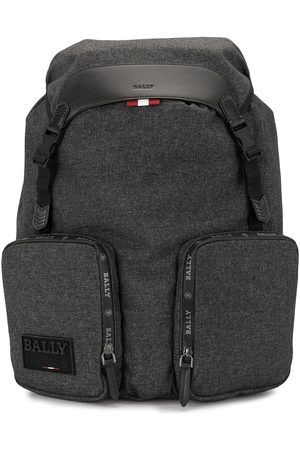 Bally Rhudi logo patch backpack - Grey
