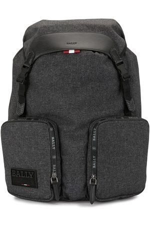 Bally Rhudi logo patch backpack - Grey