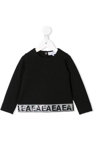 Emporio Armani Sequin-embellished crew-neck sweatshirt