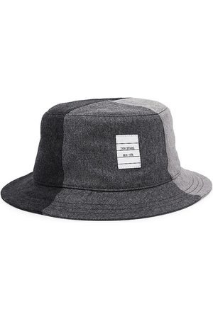 Thom Browne Men's Colorblock Wool Bucket Hat - - Size Large