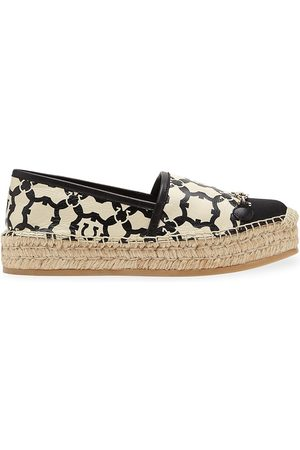 Salvatore Ferragamo Women's Kim Logo Leather Espadrilles - - Size 10.5