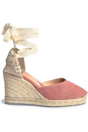 Castaner Women's Carina Recycled Canvas Espadrille Wedges - Rosa - Size 11