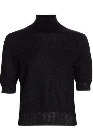 RACHEL COMEY Women's Metallic Knit Cropped T-Shirt - - Size Small