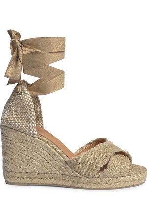 Castaner Women's Bluma Linen Espadrille Wedge Sandals - Oro Claro - Size 6