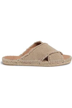 Castaner Women's Palmera Flat Canvas Espadrille Sandals - - Size 40 (10)