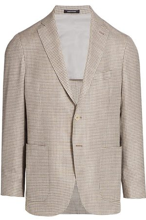 Saks Fifth Avenue Men's COLLECTION Tonal Houndstooth Sportcoat - - Size 38 R