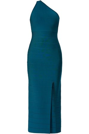 Hervé Léger Icon Asymmetric One-Shoulder Midi Gown - - Size XXS