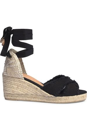 Castaner Women's Bluma Canvas Espadrille Wedge Sandals - - Size 7