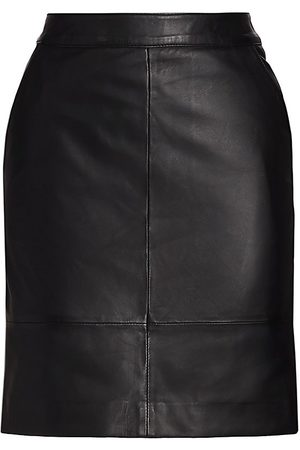 Gestuz Women's Char Leather Mini Skirt - - Size 42 (10)