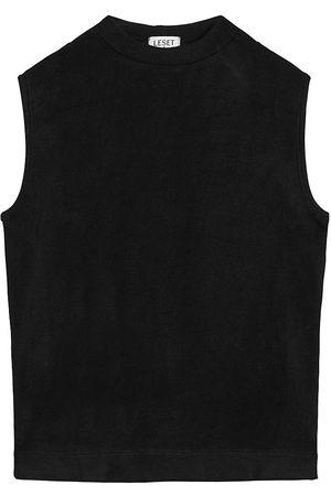 Leset Women's Lori Sleeveless Crewneck Sweater - - Size XS