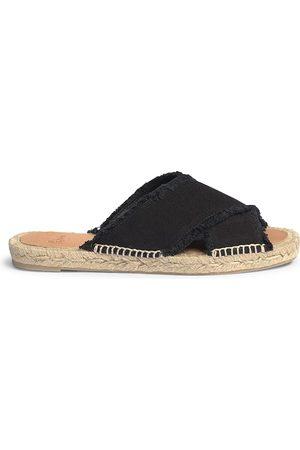 Castaner Women's Palmera Flat Canvas Espadrille Sandals - - Size 39 (9)
