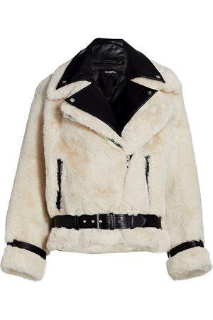 The Kooples Women's Faux Fur Moto Jacket - - Size 2 (Medium)