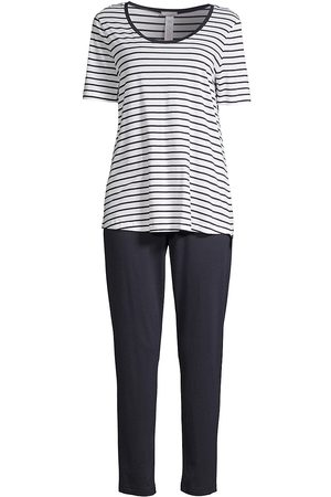 Hanro Women's Laura 2-Piece Striped Pajama Set - - Size XL