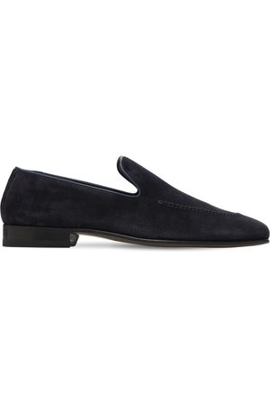 Manolo Blahnik Men Loafers - Truro Suede Loafers
