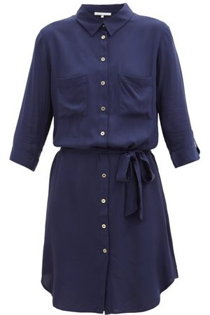 Heidi Klein Core Belted Shirt Dress - Womens - Navy