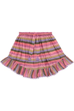 ZIMMERMANN Poppy striped cotton voile miniskirt