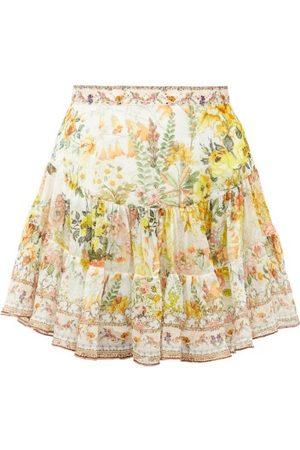 Camilla Women Printed Skirts - In The Hills Of Tuscany-print Silk Mini Skirt - Womens - Print