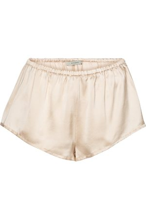 ASCENO Venice silk satin shorts