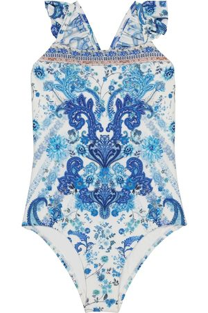Camilla Paisley ruffled swimsuit