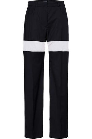 MUGLER High-rise wool straight pants